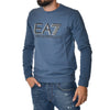 Felpa EA7 Emporio Armani Sweat Shirt Linear Blu Slim Sports Armani