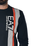 Felpa EA7 Emporio Armani Sweat Shirt Linear Blu
