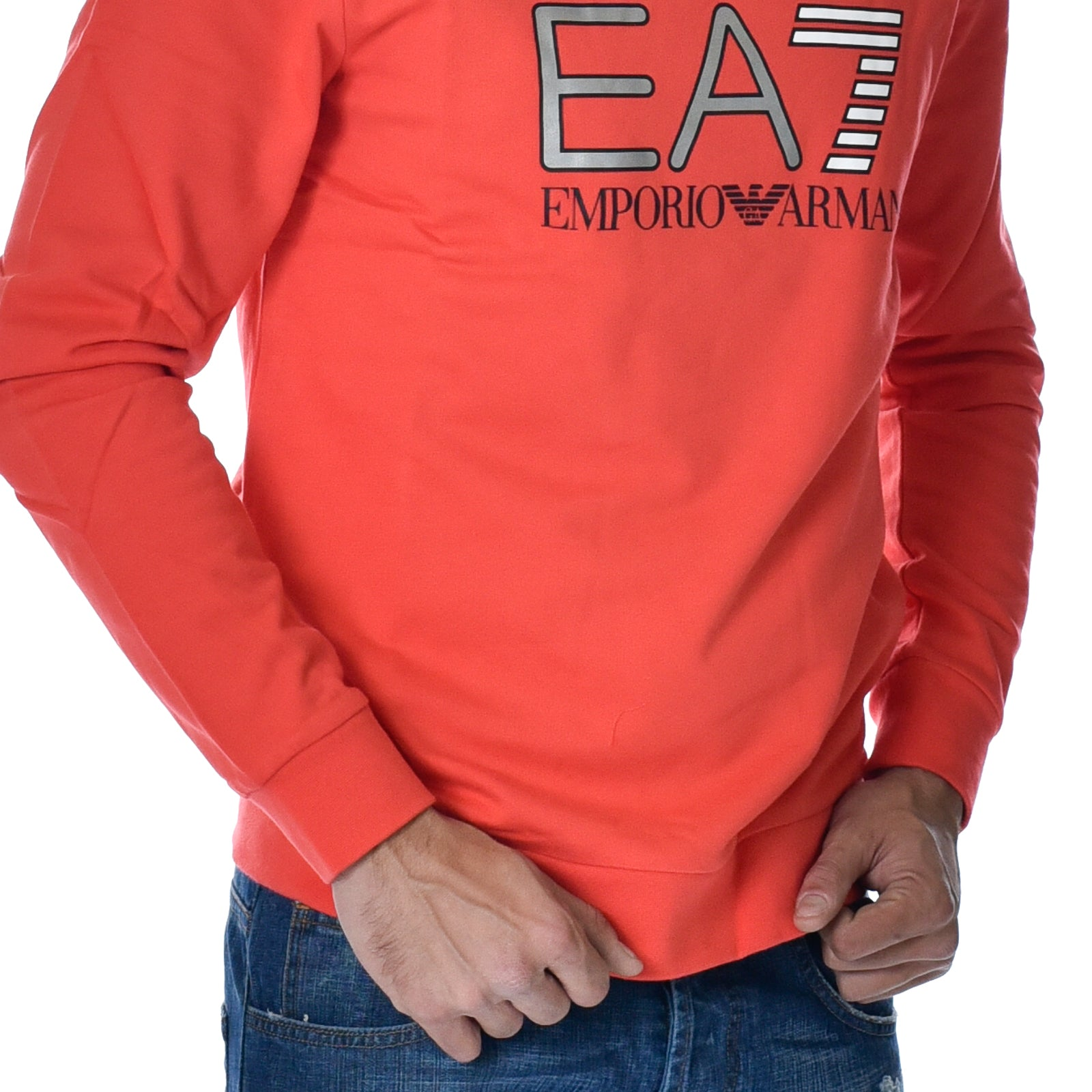Felpa EA7 Emporio Armani Sweat Poppy Red Sports Armani