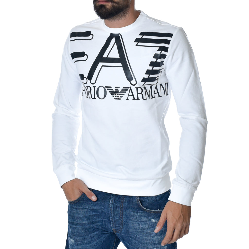 Felpa EA7 Emporio Armani Sweat Shirt White Sports