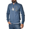 Felpa EA7 Emporio Armani Sweat Shirt Zip Blu Slim Sports Armani