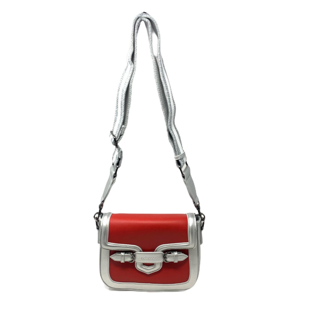 Pochette People Mini Silver Red