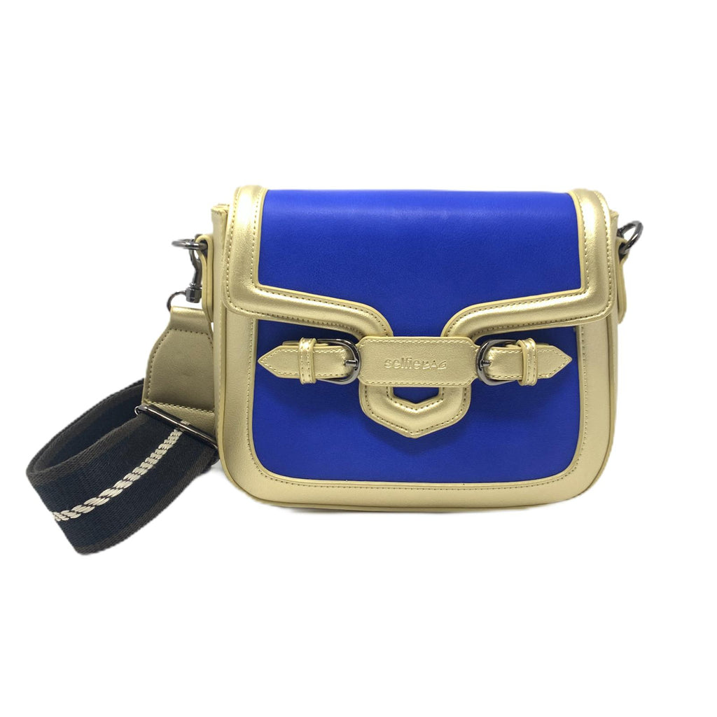 Selfie Bag Borsa Mini Gold Blue Navy