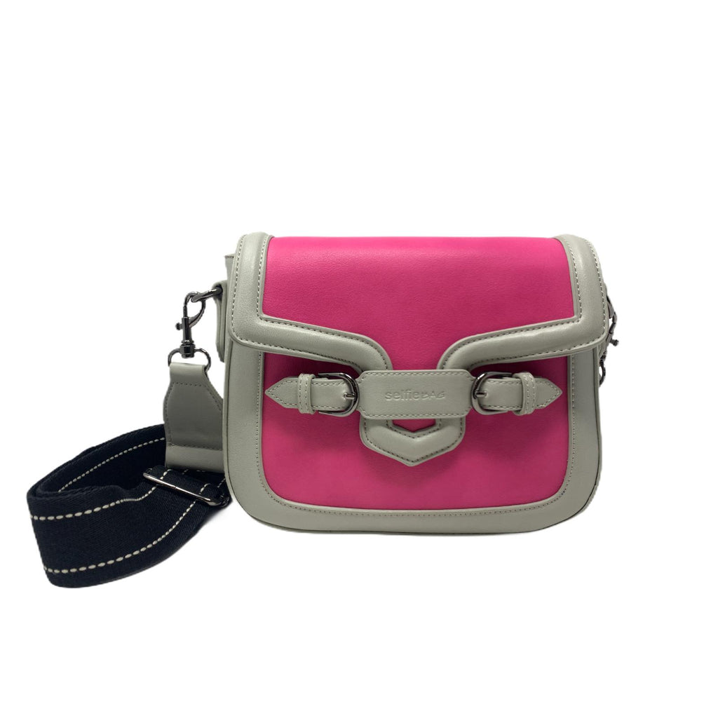 Selfie Bag Borsa People Mini Fuxia Grey
