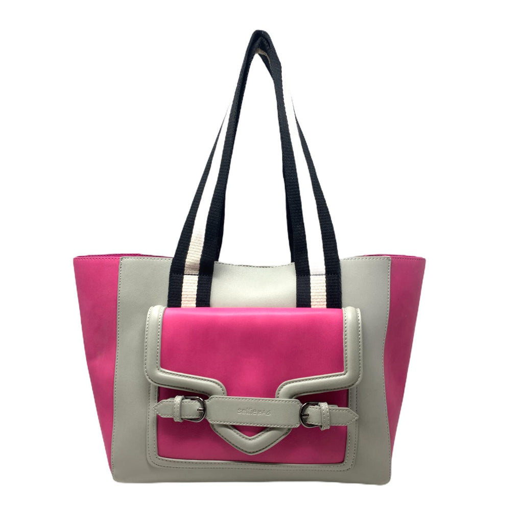 Selfie Bag People Shopper Borsa Tracollo Donna Fuxia Grey