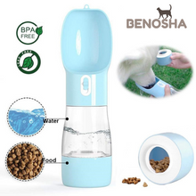 Load image into Gallery viewer, BENOSHA Portable Pet Water Bottle and Feeder Bowl