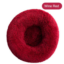 Load image into Gallery viewer, BENOSHA Fluffy Round Plush Bed