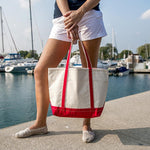 Load image into Gallery viewer, Medium Classic Boat - Canvas Tote - Veri Vera