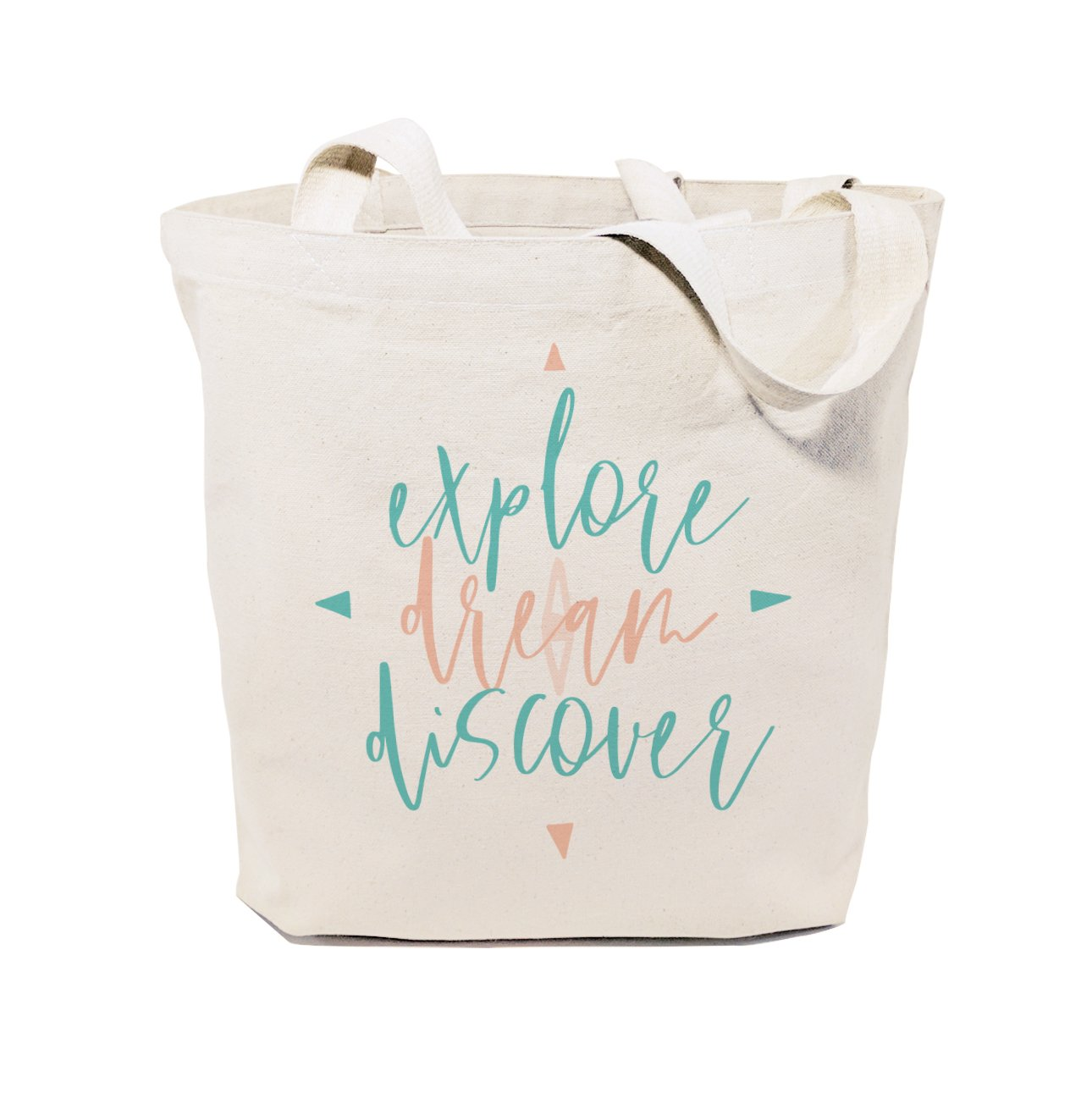 Explore. Dream. Discover Cotton Canvas Tote Bag - Veri Vera