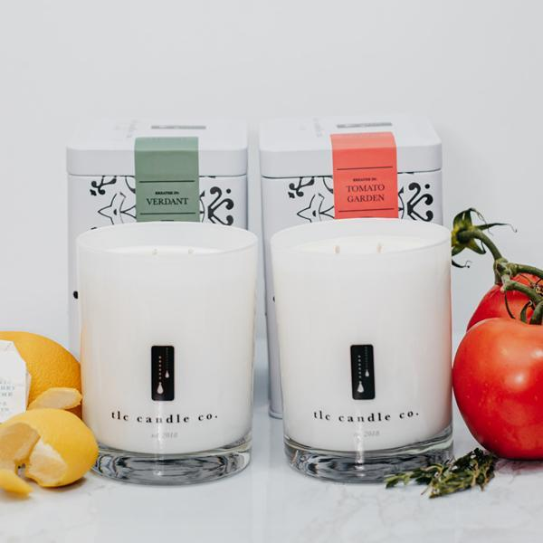 """Fresh From the Garden"" Luxury 2-Wick Candle Duo - [Veri Vera]"