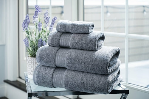 100% Organic Cotton Turkish Dobby Design Bath Towel Set - Veri Vera