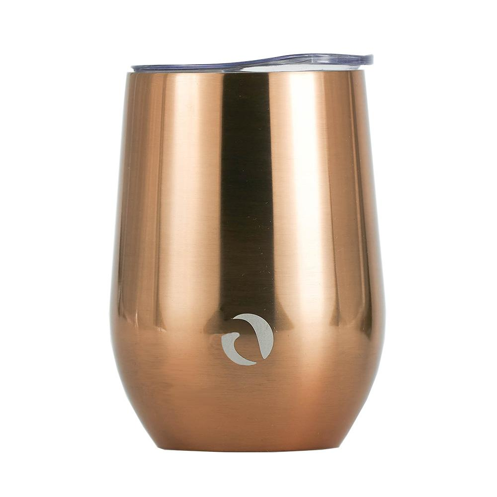 Insulated Wine Tumbler Glass - Sunset Copper - 12 oz - Veri Vera
