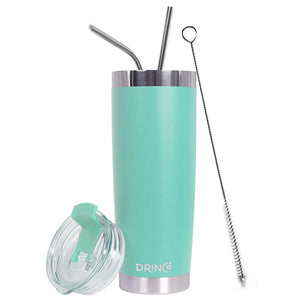 DRINCO®  20oz Insulated Tumbler w/Spill Proof Lid, 2 Straws(Teal) - Veri Vera