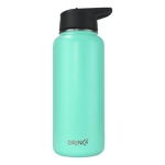 Load image into Gallery viewer, 32oz Stainless Steel Water Bottle (3 lids) - Teal - Veri Vera