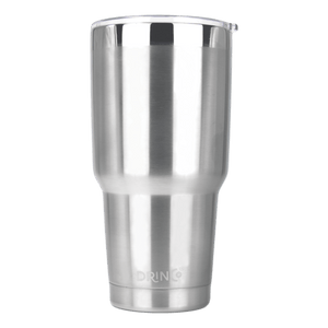 DRINCO® 30oz Insulated Tumbler Spill Proof Lid w/2 Straws (Brushed) - Veri Vera