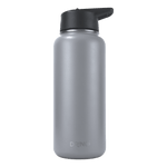 Load image into Gallery viewer, 32oz Stainless Steel Water Bottle (with 3 lids) - Asphalt Gray - Veri Vera
