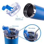 Load image into Gallery viewer, DRINCO®  20oz Insulated Tumbler w/Spill Proof Lid 2 Straws(Royal Blue) - Veri Vera