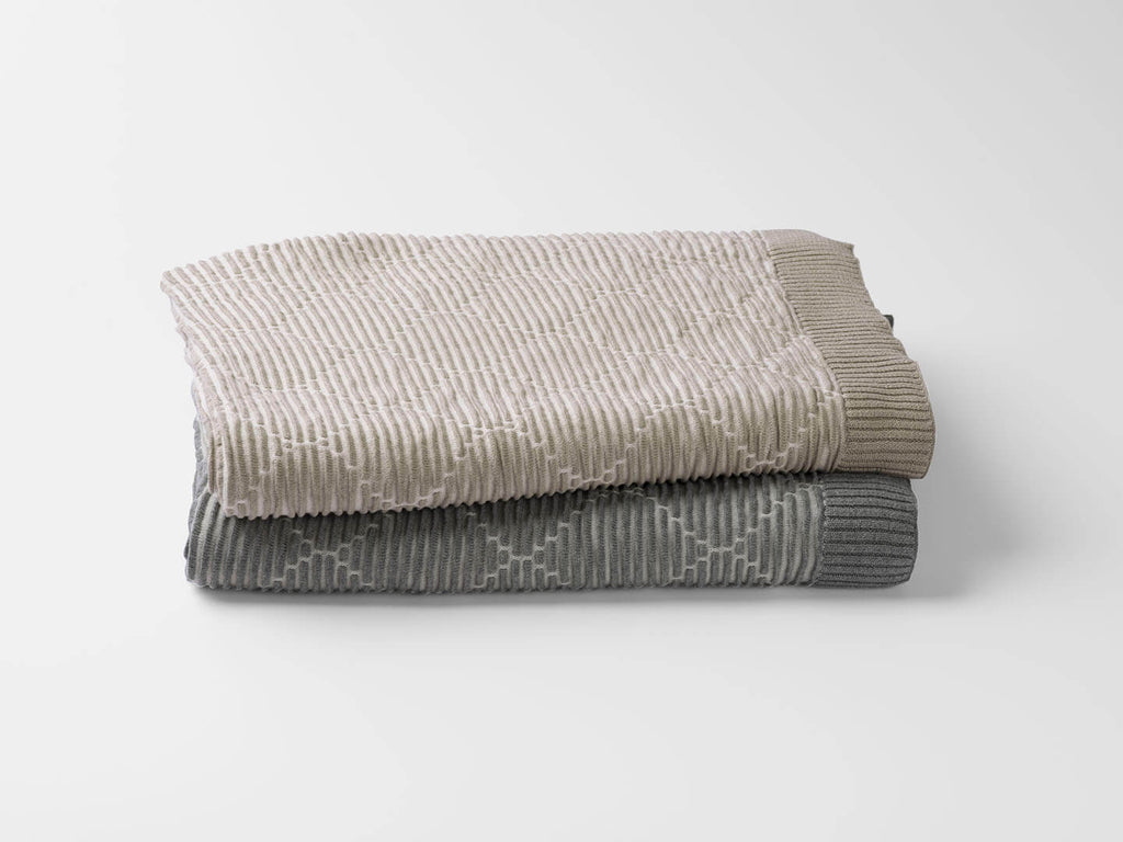 100% Organic Cotton Ogee Knit Throw Blanket - Veri Vera