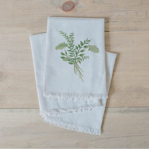 Eucalyptus Bunch Watercolor Napkin - Veri Vera