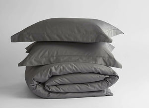 100% Supima Cotton, 500 Thread Count Sateen Solid Duvet Cover - Veri Vera