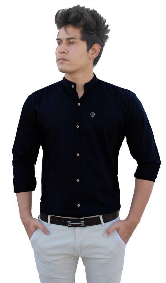 Men Casual Black Shirt