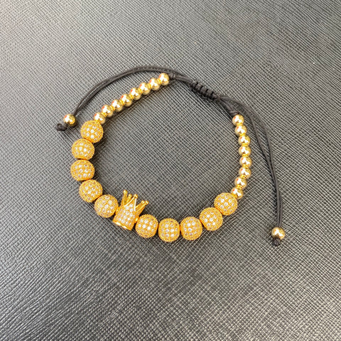 Beaded Bracelet (Yellow Gold, Rose Gold, Silver & Black)