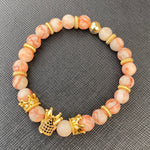 Gemstone Bracelet (Gold Crown/Rose Quartz)