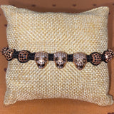 Gemstone Bracelet (Rose Gold Skull)