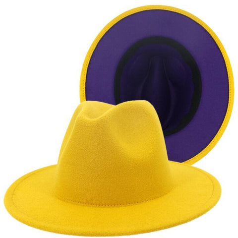 Fedora Hat (Purple Bottom)