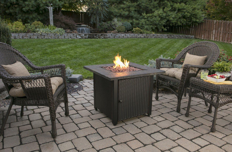 <b>Endless Summer</b> 30 in. LP Gas Outdoor Fire Pit with Resin Tile Mantel
