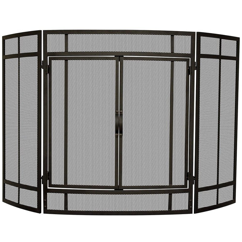 <b>Uniflame</b> 3 Panel Curved Screen with Doors