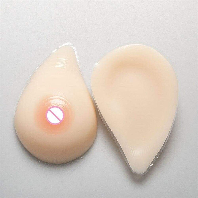 600g Breasts (White Curved) + Pocket Bra (5 Colors) Pocket Bra + Breasts