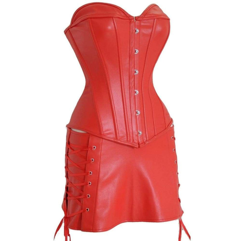 Drag Corset Dress Xena (Black or Red) Corset Dress