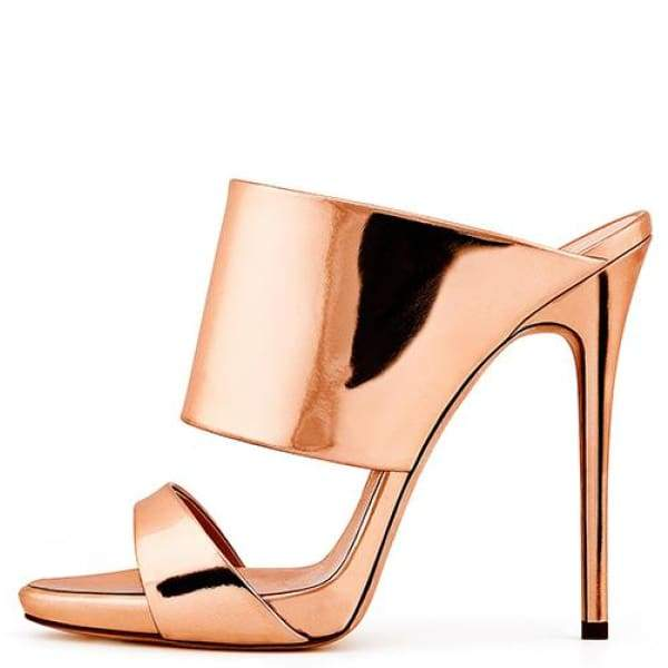 Drag Sandals Katya (Rose Gold or Nude) Rose Gold / 4 Sandals
