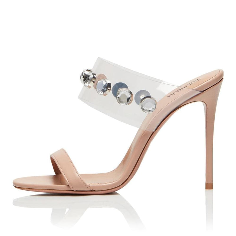Drag Sandals Kimma (Nude or Silvery) Nude / 4 Sandals