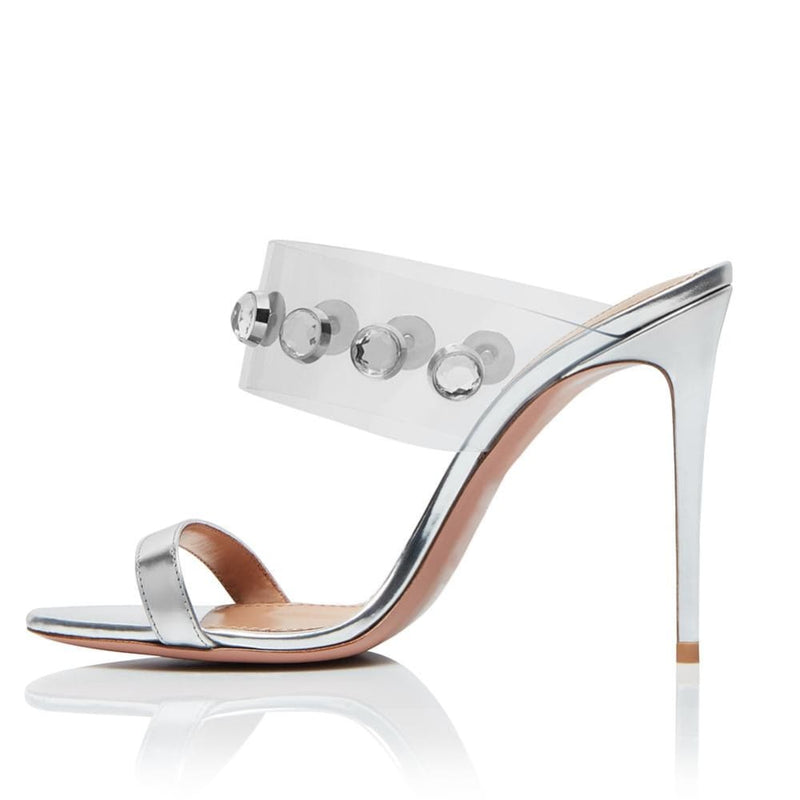 Drag Sandals Kimma (Nude or Silvery) Silver / 4 Sandals