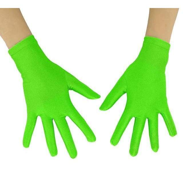 Gloves Drag Mimic (19 Colors) Fluorescent Green / 10 Inch Gloves