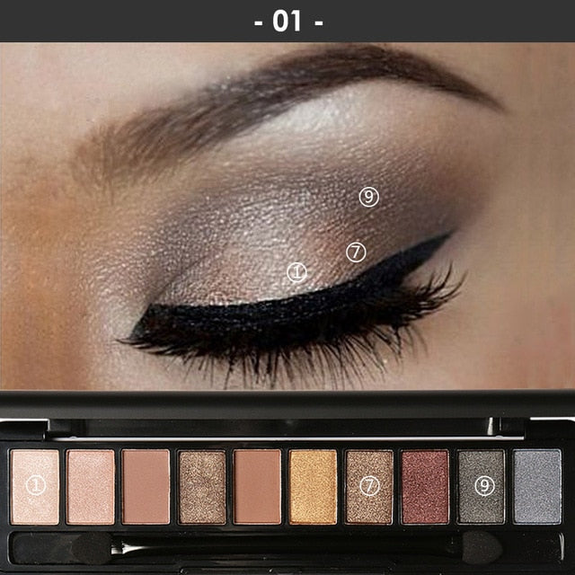 Professional Makeup Palette - Perfect Smokey Eyes (4 Variants)