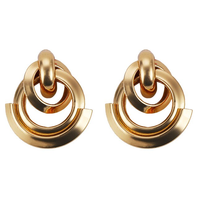 Stud Earrings Drag Simona (Silver or Gold)