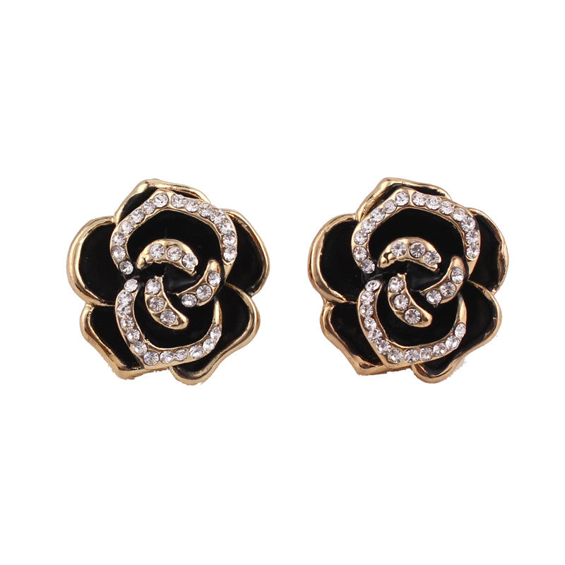 Clip Earrings Queen Rose