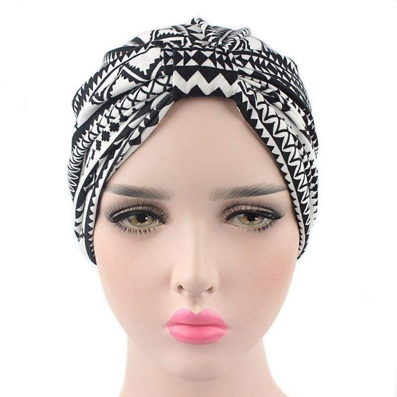 Turban Drag Aztec (Black or Navy) Turban
