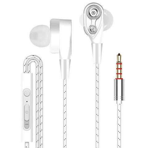 Dual Drive Stereo Wired earphone - Silverlight sound