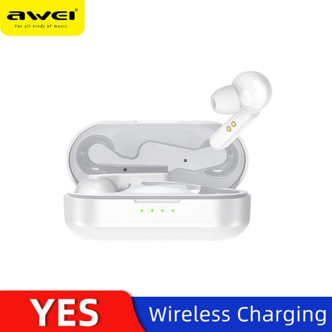 AWEI TWS Bluetooth V5.0 Earphone - Silverlight sound
