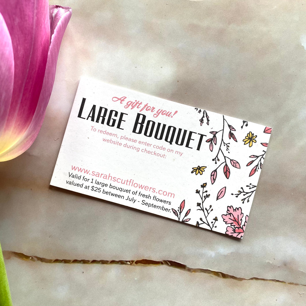 Fresh Bouquet Gift Card