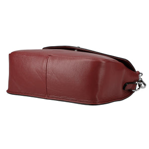 2 Way Embossed Shrink Leather Pochette