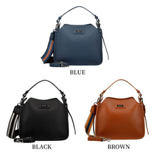 Load image into Gallery viewer, 3 Way Leather Handbag w/ Metal Logo