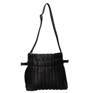 Drawstring Top with Ruffle Design Shoulder Bag