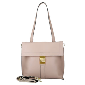 Square 2 Way Leather Handbag