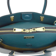 Load image into Gallery viewer, 3 Compartment Round Handle Leather Handbag