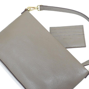 2 Way Martina Leather and Polyester Pochette Made in Italy